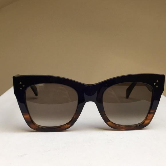 ac3f366acf90 Celine Accessories - Celine Havana Blue 2-Tone Gradient Sunglasses
